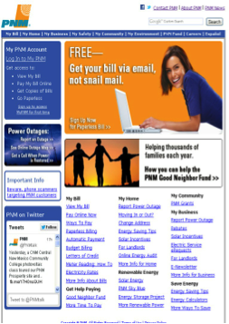 PNM.com old website