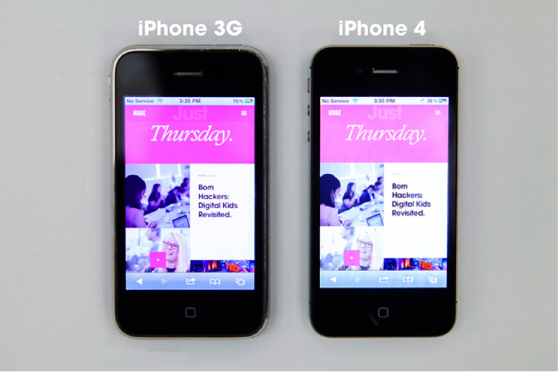 Images on the iPhone 3G and iPhone 4 with retina display render the same