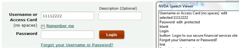 Demo of a login page with all accessibility features properly implemented